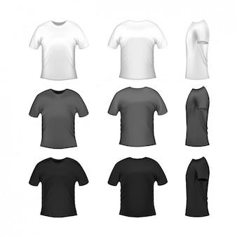 Shirt-designs kollektion Kostenlosen Vektoren