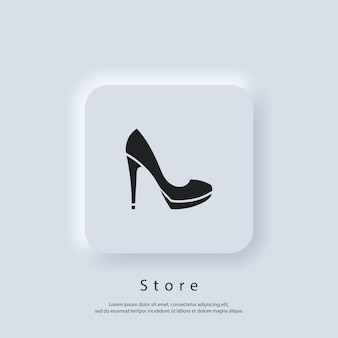 Shop-logo. online-shop-logo. shopping-symbol. mode geschäft. vektor. ui-symbol. neumorphic ui ux weiße benutzeroberfläche web-schaltfläche.