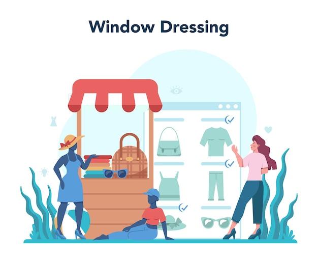 Shop merchandiser illustration