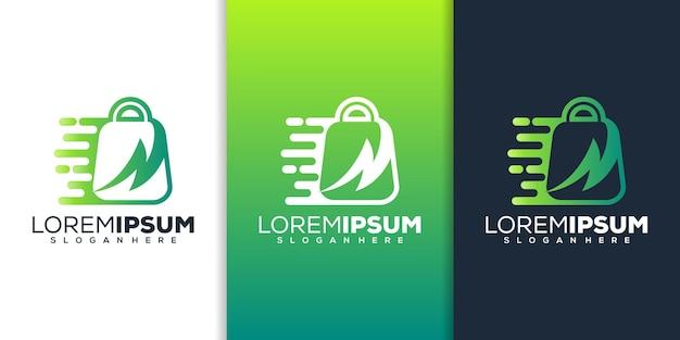 Shop mit donner-logo-design
