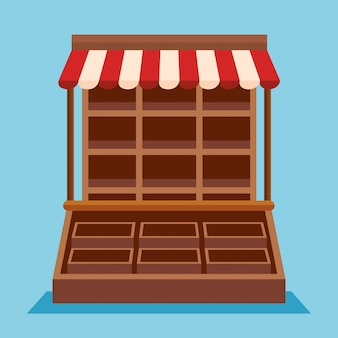 Shop shop verkauf mit boutique-design