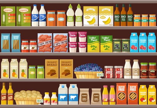 Shop von bio-produkten. supermarkt