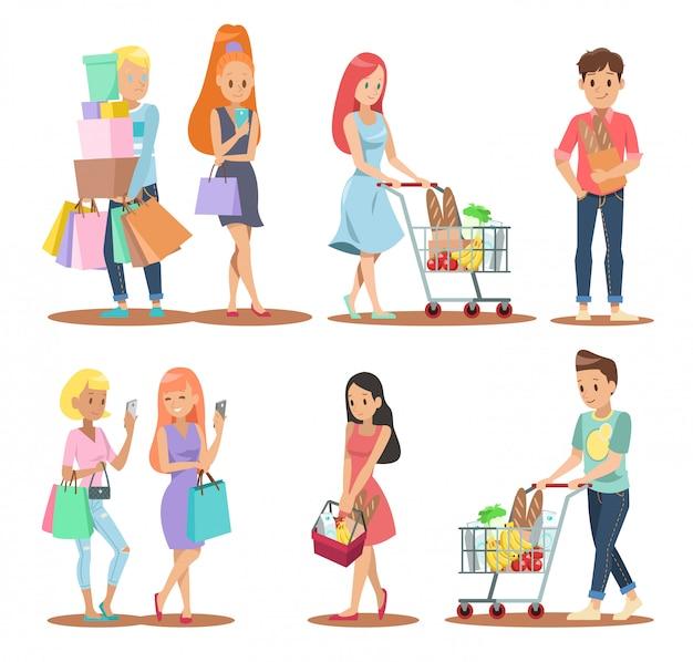 Shopping charakter design