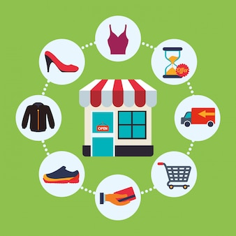 Shopping icon design