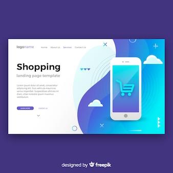 Shopping-landing-page