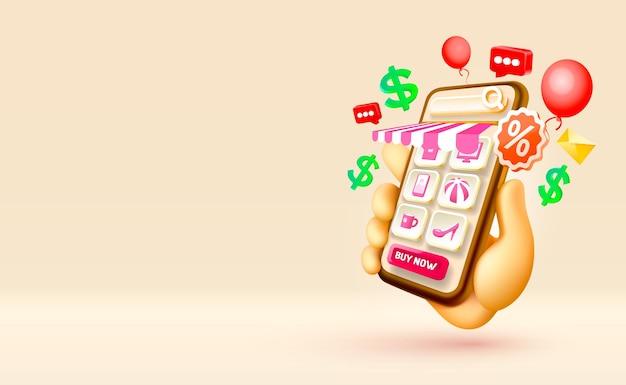 Shopping-nachricht smartphone-handy-bildschirmtechnologie-handy-display-vektor