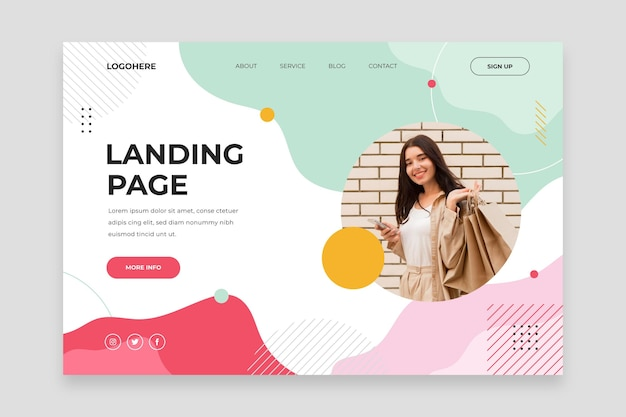 Shopping sales landing page