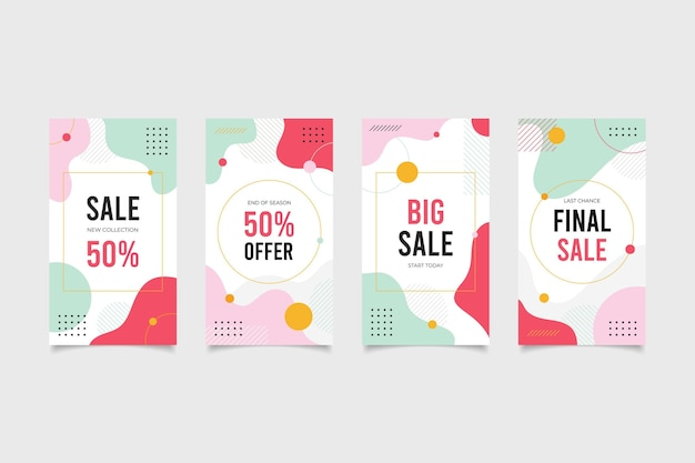 Shopping sales social media stories pack