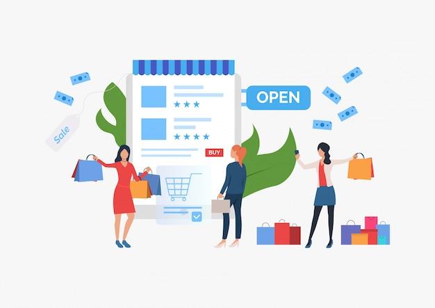 Shopping verkauf folie vorlage präsentation