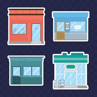 Shops speichert icon-set