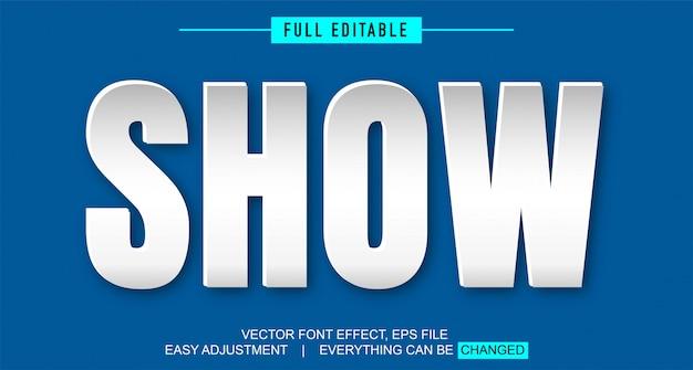 Show, papierartschatten-texteffekt