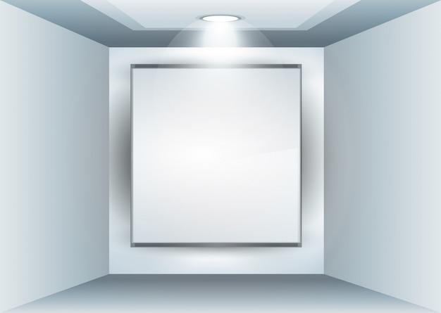 Showroom panel für produkte mit led-strahlern