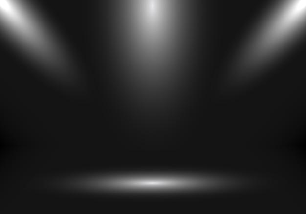 Showstand-schwarzhintergrund des leeren raumes des studios 3d.