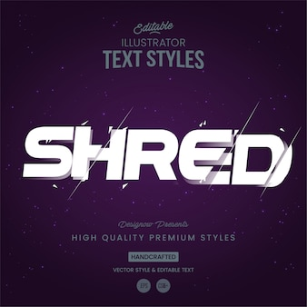 Shred textstil