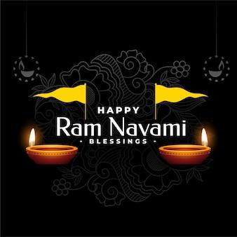 Shree ram navami hindu festival dekorative grußkarte