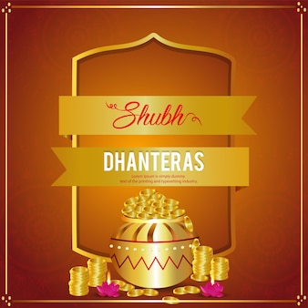Shubh dhanteras indische festfeier grußkarte