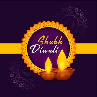 Shubh diwali festival grußkarte