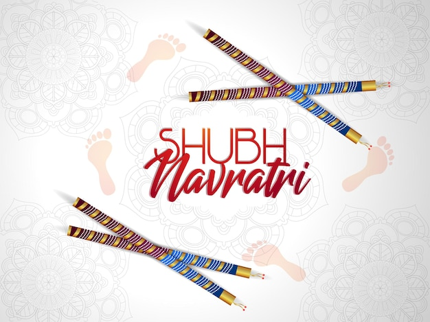 Shubh navratri feier grußkarte