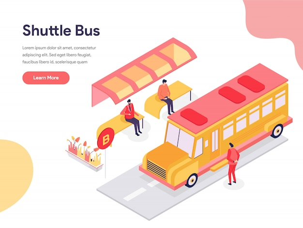 Shuttle bus illustration