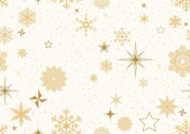 Sich wiederholendes weihnachtsmuster mit goldener dekoration