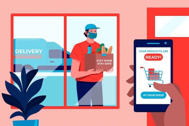 Sichere lebensmittellieferung mit app