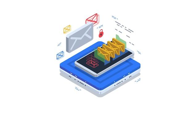 Sichere post und e-mail-speicherung. schutz vor spam und malware.