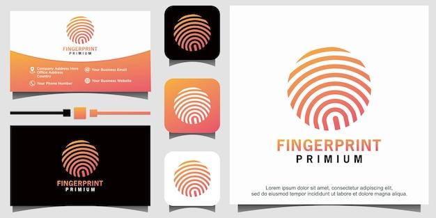 Sichere sicherheitslogoschablone für fingerabdrucksperre