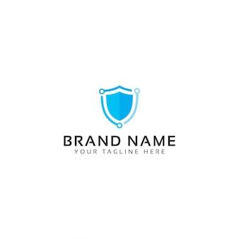 Sichere tech-logo-vorlage