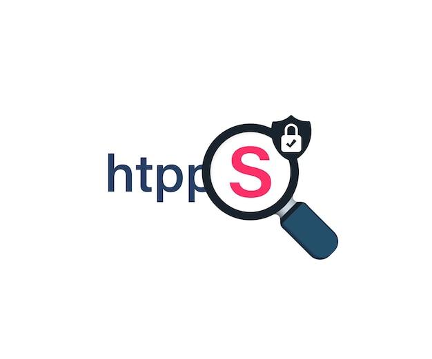 Sichere verbindung symbol vektor-illustration. sichere datenverschlüsselungstechnologie, https-zertifikat datenschutzzeichen