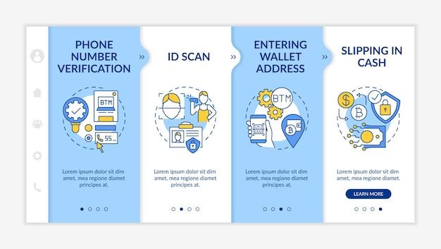 Sichere verwendung von gadgets und anwendungen onboarding app mobile template