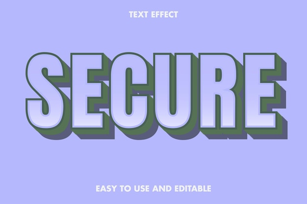 Sicherer texteffekt. bearbeitbar und einfach zu bedienen.