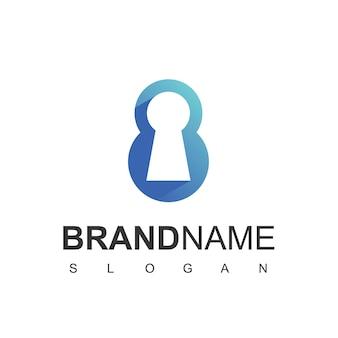 Sicheres logo mit 8 anfangszahlen