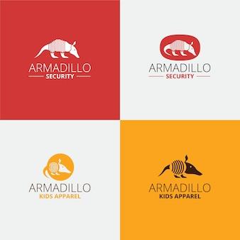 Sicherheit gürteltier logo design