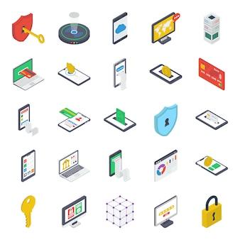 Sicherheit und schutz icons pack