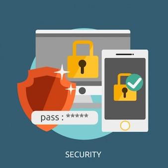 Sicherheits-hintergrund-design