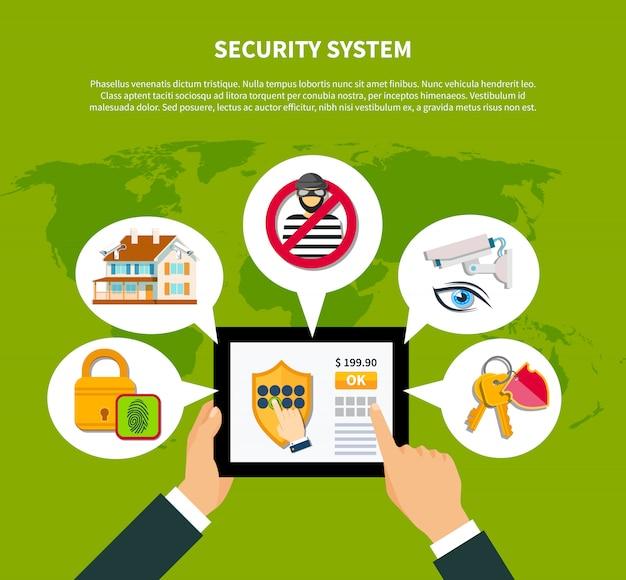 Sicherheits-illustration