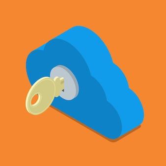 Sicherheitsauthentifizierungssymbol für cloud-kennwortsperre