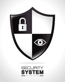 Sicherheitsdesign, vektorillustration.