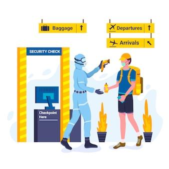 Sicherheitskontrolle körpertemperatur