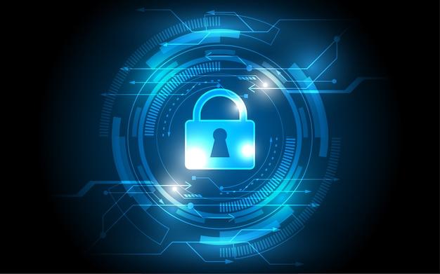 Sicherheitsschalter abstraktes technologisches hintergrundinnovationskonzept