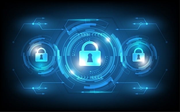 Sicherheitsschalter knopf setzen innovationskonzept abstrakte technologie