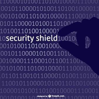Sicherheitsschild konzept vektor