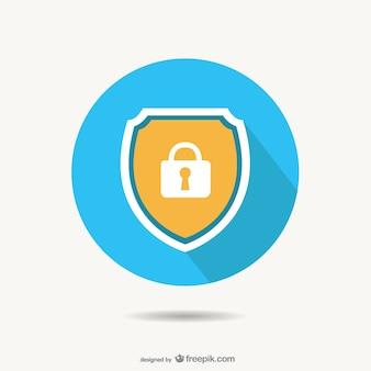 Sicherheitsschloss vektor-design
