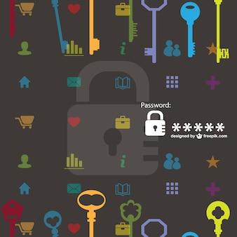 Sicherheitsschlüssel vektor muster kostenlos