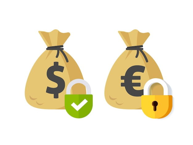 Sicherheitssymbol für geldzahlungssperre oder private zahlungstransaktion ausgesetzt oder flach gesperrt