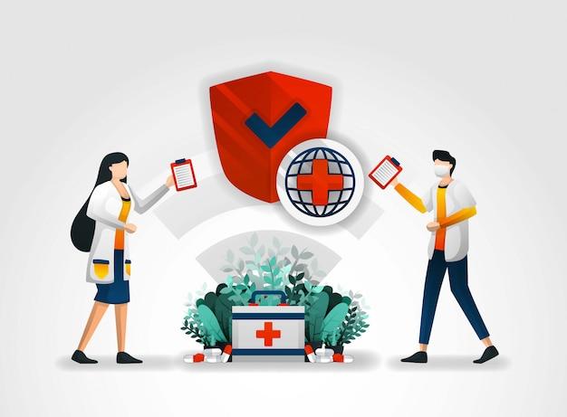 Sicherheitssystem in der medizin und im krankenhaus