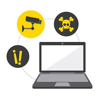 Sicherheitssystemdesign, grafik der vektorillustration eps10