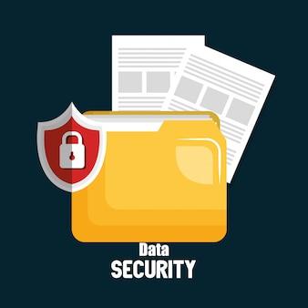 Sicherheitstechnologie für ordner-datentechnologie