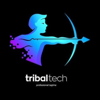 Sicherheitstechnologie-logo-vorlage