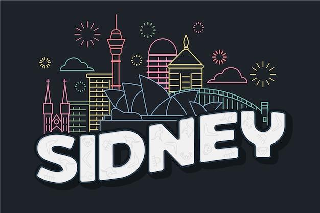 Sidney city schriftzug